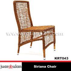 Siriana Chair Kursi Rotan Sintetis  KRT043