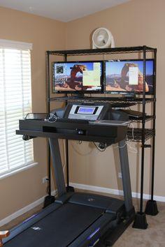 Prototype Treadmill Desk/Wall Unit