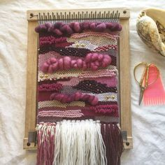 Weaving Loom Kit Beginners Loom Lap Loom DIY by NeonKnotDesigns - Knitting and Crochet Weaving Wall Hanging, Weaving Art, Tapestry Weaving, Loom Weaving, Hand Weaving, Wall Hangings, Weaving Projects, Diy Craft Projects, Craft Ideas