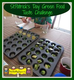 St.Patrick's Day Green Food Taste Challenge