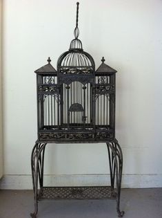 Victorian Bird Cages | ... birdcage. I would fill it with flowers and little faux birds
