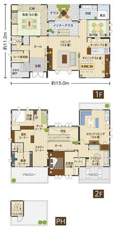 Floor Layout, Sims House, Japanese House, House Layouts, House Plans, Floor Plans, Flooring, How To Plan, Interior Design
