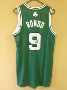 Rondo autographed Boston Celtics jersey size men s medium 4e853970c