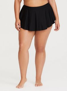108c950563 Black Hi-Lo Swim Skirt. High Waisted Swim SkirtOff The Shoulder SwimsuitWomen's  Plus Size ...