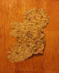 My Special K flake from breakfast this morning could not look more like Ireland!?