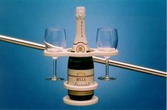 Cockpit Wine Bottle Holder - keeps your wine from leaning with the boat...TOTALLY need this for summer!