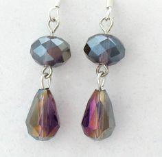 Purple Iridescent earrings