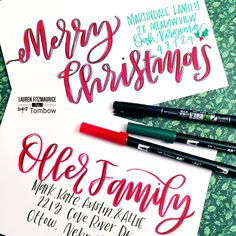 5 Holiday Envelope Hacks: How to Add Style to your Holiday Envelopes with @tombowusa