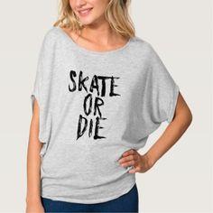 Skate or Die Roller Derby Girl design T-Shirt - diy cyo personalize design idea new special custom