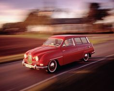 SAAB 95 - late 50's, early 60's, my mom drove one of these when I was a kid. Practical layout with rear facing 3rd seat