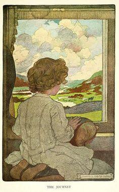 "American Illustrator: Elizabeth Shippen Green, (1871-1954) ""The Journey"", c.1903. ~ {cwl}"