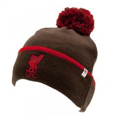 0ad892c550b Liverpool Football Club Crest 47 BRAND Knitted Ski Bobble Hat GRY UK