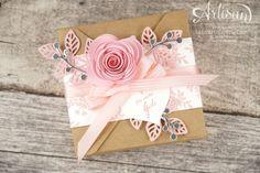 Stampin' Up!  - Minialbum - Leporello - Envelope Punchboard - Spiral Flower - Flower Poetry - 4