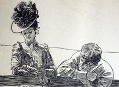 1906-antique-charles-dana-gibson-print