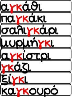 Μην αγγίζετε! Έχει αγκάθια! / Μαθαίνοντας το γκ / Φύλλα εργασίας και … Greek Language, Back 2 School, Kids Learning, Classroom, Letters, Exercise, Education, Leather, Greek