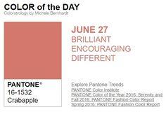 …y el color de hoy es Manzano Silvestre, un color brillante, alentador, diferente. Más info en http://www.pyma.com/tutoriales-y-trucos/y-los-colores-pantone-de-esta-semana-sonsemana-del-27-de-junio-al-3-de-julio/