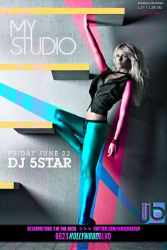 Jamie Barren presents MyStudio Hollywood Fridays - June 22, 2012     Music by Dj Five Star spinning the best of Hip Hop, Top 40s, House - http://www.youtube.com/watch?v=zn-yw7_aI7U=1     Early arrival is a must - Rsvp on Jamie Barren's list at door 310-749-9029. VIP Tables available with bottle service (ask about our insane bottle special deals). Follow http://www.twitter.com/jamiebarren