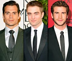Henry Cavill beats Robert Pattinson and Liam Hemsworth and tops Glamour UK's Sexiest Men of 2013 list.