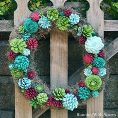 Turn Pine Cones into a Faux Succulent Wreath!