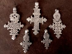 collection of old/antique silver Ethiopian coptic Axum crosses. For sale: shebastreasures650@gmail.com