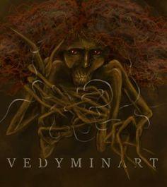 Kikimora by vedyminart witcher monster slavic mythology digital painting