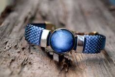 Pluto braceletPlanet pluto braceletNavy blue ombre by ShoShanaArt