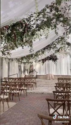 Outdoor Tent Wedding, Outdoor Weddings, Wedding Tent Lighting, White Tent Wedding, Forest Wedding Venue, Romantic Weddings, Patio Wedding, Rustic Wedding, Wedding Ceremony