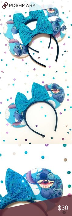 Lilo and stitch Minnie Mouse ears Princes are due to LABOR and MATERIALS.  -- All my ears are handmade by me, no two items are exactly identical. There will be slight Imperfections.   --- NO RETURNS. If you are unhappy with your order please message me within 5 days of receiving your ears and I will fix any problem you have with your ears. Buyers are responsible for return shipping.  (No affiliation with the Disney Company) Accessories Hair Accessories
