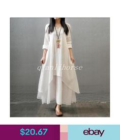 91dc263e2b02 Women s Casual Daily Simple Chinoiserie Loose Dress