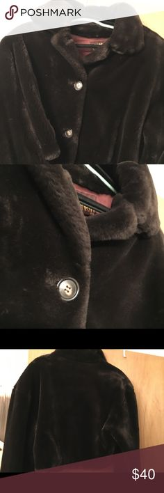 Gorgeous Faux Fur Luxe Jacket End of Winter Steal: Gorgeous  Vegan Charta Faux Fur Short Sable Jacket Size M- Faux is the way to go! Softest Jacket Ever! Luxuriously thick & snuggly soft- silk lined pockets w- Extra long sleeves, so you can fold up for more luxe! Inside is lined however it needs a lil stitching up! Waist length & super snuggly! OMG awesome! Charta Jackets & Coats