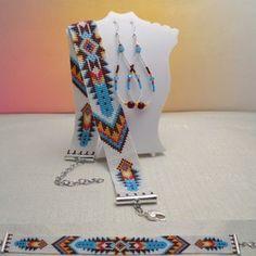Loom Bracelet Patterns, Bead Loom Patterns, Ethnic Patterns, Beaded Jewelry Patterns, Peyote Patterns, Loom Bracelets, Beading Patterns, Beading Needles, Loom Beading