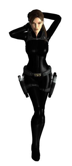 Lara Croft (by Black Leather Outfit - [Tomb Raider] Tomb Raider Underworld, Tomb Raider Game, Tomb Raider Lara Croft, Lara Croft Underworld, Heroine Marvel, Laura Croft, Mileena, Shadowrun, Black Widow