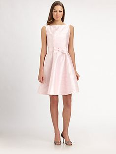 CUUUTE. Pink. Dress. #Excited #GettingCloser Lotusgrace - Taffeta Bow Dress - Saks.com