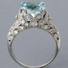 Edwardian ring, I'd like a different color besides blue