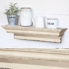 Add French Country charm to your home like never before. Our Distressed Wall Shelf is beautiful. For more visit www.decorsteals.com OR www.facebook.com/decorsteals