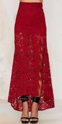 Flamenco maxi skirt