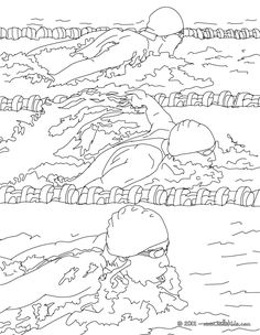 Lovely Breaststroke Swimming Race Coloring Page More Sports Pages On Hellokids