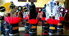3 Star wars centerpiece party decoration. by delightyourselfevent