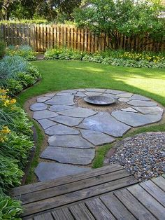 Firepit Area Totally Using The Extra Stone I Have To Do This! Great Idea  For Fire Pit To Put Seating Around.