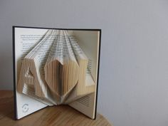 Initial Folded Book ArtPaper AnniversaryBook by Meiorigami on Etsy, £36.00