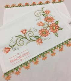 No photo description available. Decorative Towels, Diy And Crafts, Embroidery, Crochet, Model, Pattern, Craft, Ribbons, Crochet Edgings