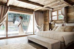 Chalet Angora in Megeve, France - White Blancmange Modern Master Bedroom, Wood Bedroom, Airy Bedroom, Bedroom Decor, Chalet Interior, Interior Design, Chalet Design, Wooden Cottage, Modern Masters