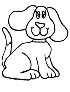 dog coloring pages for kids preschool crafts