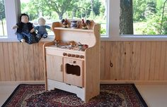 Natural Wooden Play Nathans Kitchen by AToymakersDaughter on Etsy