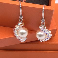 Buy Swarovski Crystal Ear Ring in Singapore,Singapore. Swarovski pearl and crystal ear ring  ❌negotiations,trade. Boxes not included.  Other colours can be customise. Please feel free to PM. Thank you for visiting m Chat to Buy