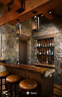 Montana Family Compound   Rustic   Home Bar   Other Metro   Shannon  Callaghan Interior Design