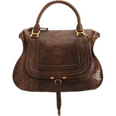 At the top of my Christmas List: Chloé Python Marcie Large Satchel