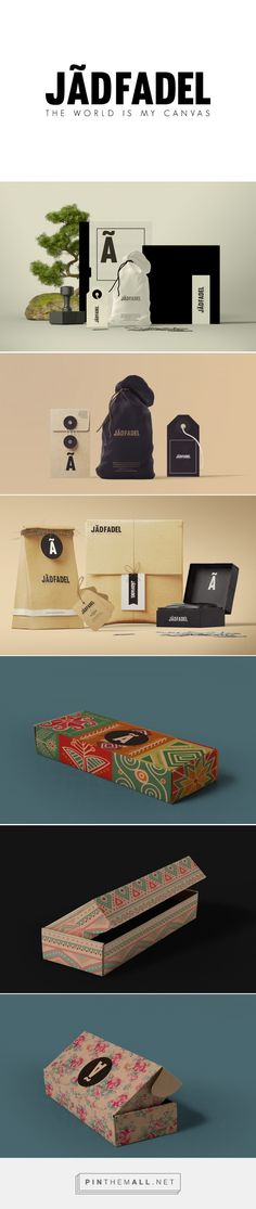 JÃDFADEL (Clothing brand) by Jad Fadel. Source: Behance. Pin curated by #SFields99 #packaging #design