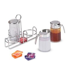 Melissa & Doug Let's Play House! Condiment Set (Pretend Play, Sturdy Metal Caddy, Realistic Sound Effects, 6 Pieces, Great Gift for Girls and Boys - Best for and 5 Year Olds) Kite Shop, Sugar Dispenser, Puzzle Shop, Condiment Sets, Melissa & Doug, Toy Rooms, Fake Food, Play Food, Cars