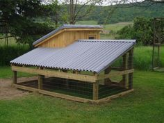 This is a great chicken coop & feeding & watering idea too!